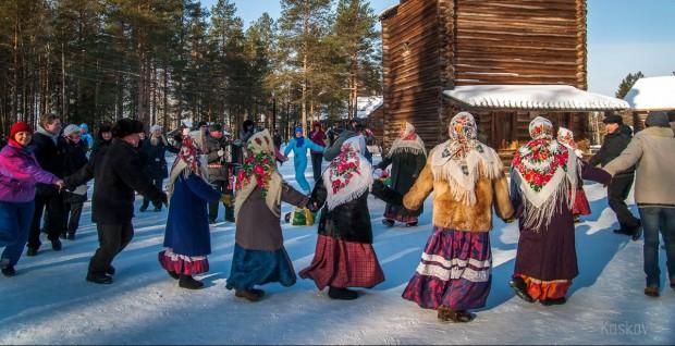 Гуляния на русской свадьбе