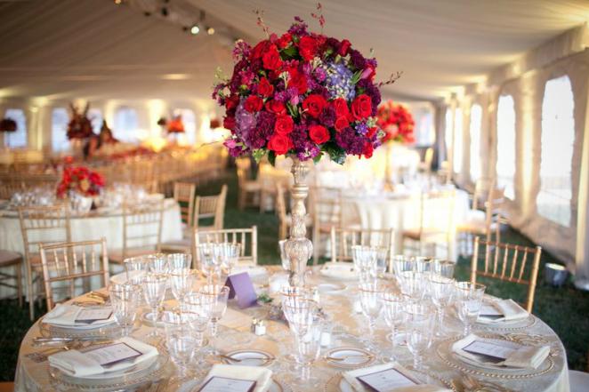 Топиарии на свадебном столе
