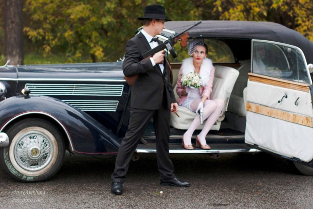 Стилизованная свадьба под мафию