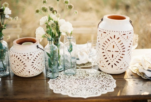 Оригинальное украшение свадебного стола