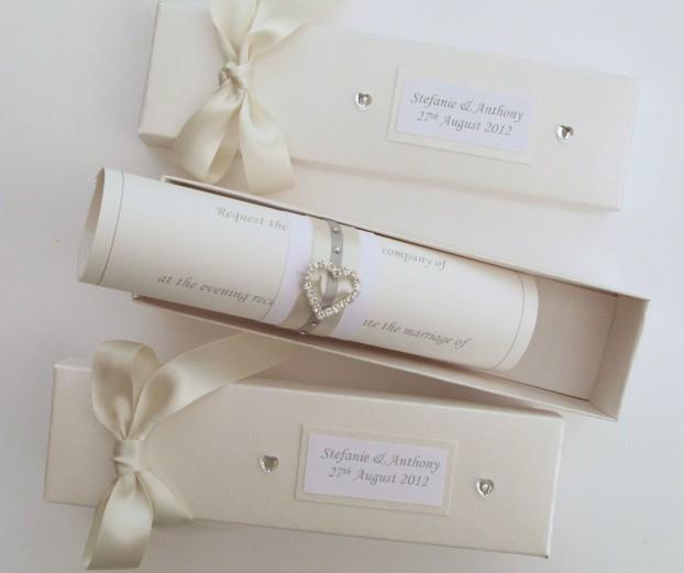 приглашение на свадьбу в форме свитка