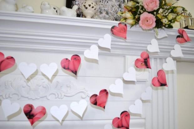 свадебная гирлянда с сердечками