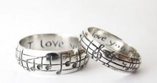 Парные кольца с гравировкой