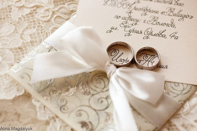 Подписываем свадебную открытку