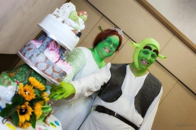 Свадьба в стиле Шрек и Фиона