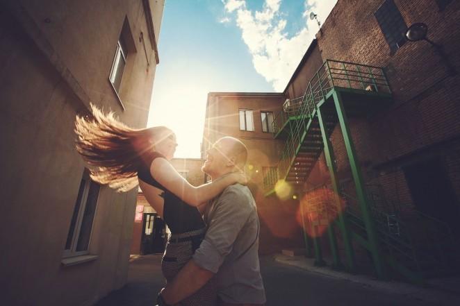 История любви красивой пары