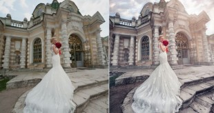 Свадебное фото до и после обработки