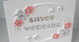 Свадебная открытка в стиле квиллинг