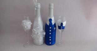 Шампанское на свадьбу своими руками