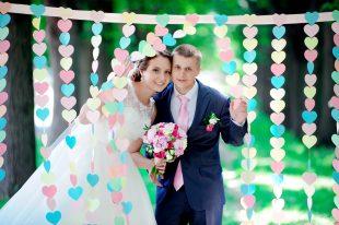 Гирлянда для свадебной фотосессии