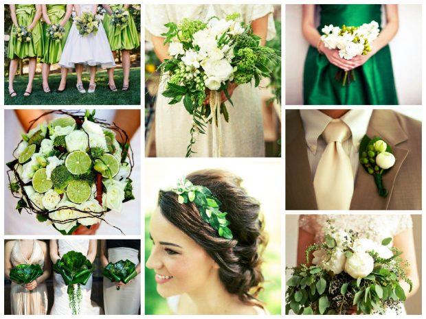 Букет невесты на зеленой свадьбе