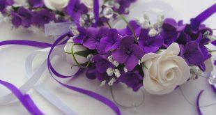 Украшение свадебного зала в сиреневом цвете