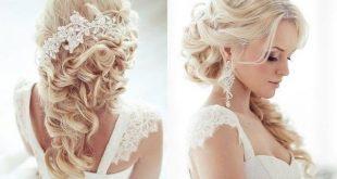 Прическа невесты на длинные распущенные волосы