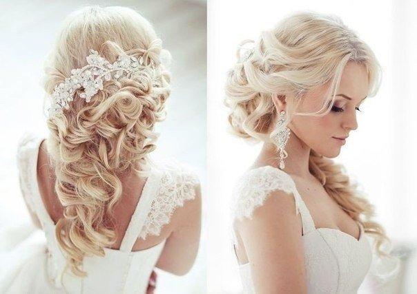 Свадебные причёски на средние волосы распущенные