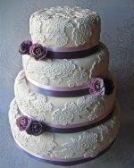 Свадебный торт в сиреневом