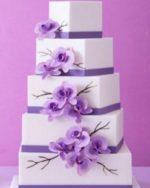 Торт на сиреневой свадьбе