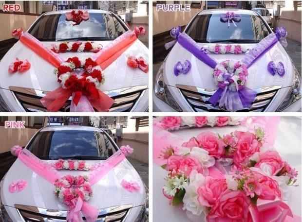 Варианты оформления свадебной машины