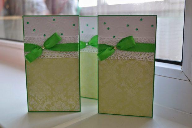 Пригласительные на свадбу в зеленом цвете
