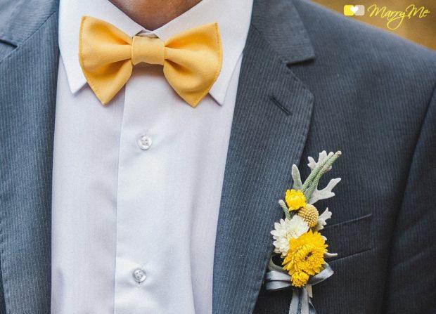 Наряд жениха на желтой свадьбе