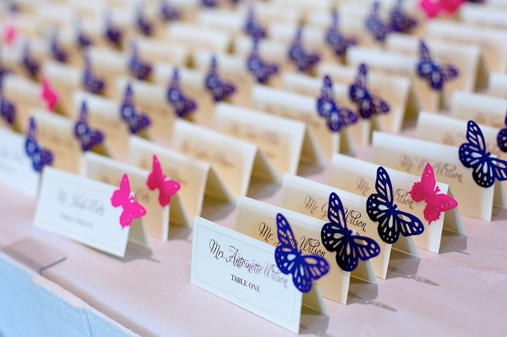 Карточки для свадебного стола
