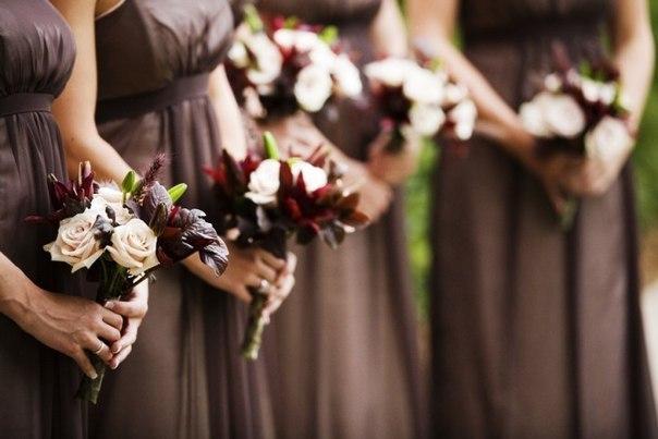 Подруги невесты на шоколадной свадьбе
