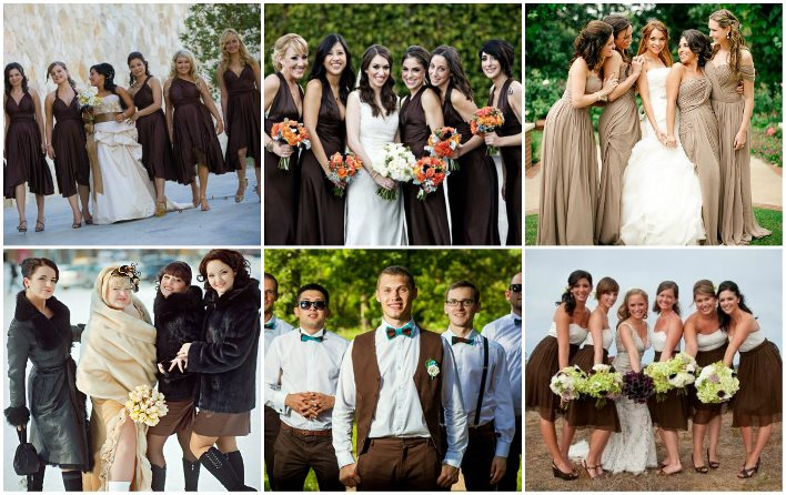 Шоколадные образы подружек невесты