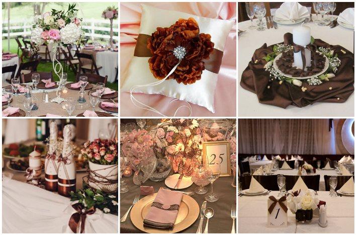 Украшение стола в шоколадном стиле