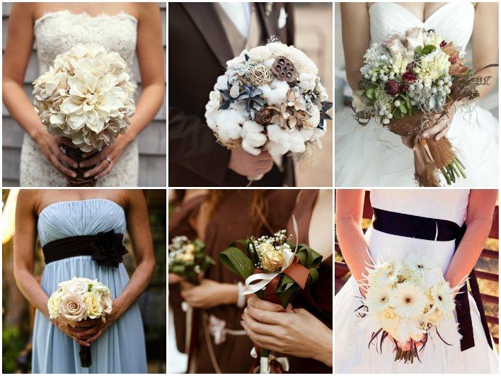 Букет невесты в шоколадном цвете