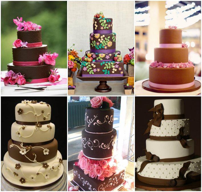 Торт для свадьбы в шоколадном стиле