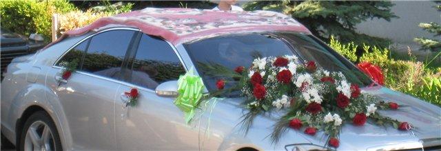 Карачаевское украшение свадебного авто