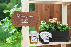 Фотозона на свадебном фуршете